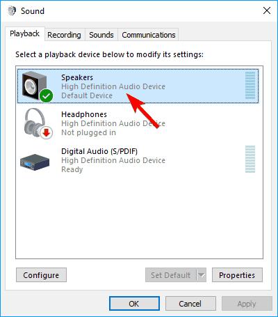 Windows  El control deslizante de 10 volúmenes no funciona Configuración de sonido de los altavoces