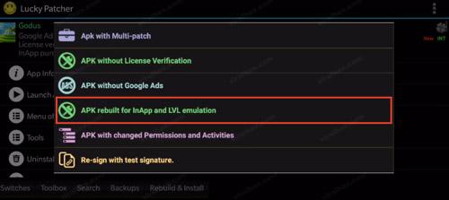 Zostavený apk pre emuláciu v aplikácii a LVL