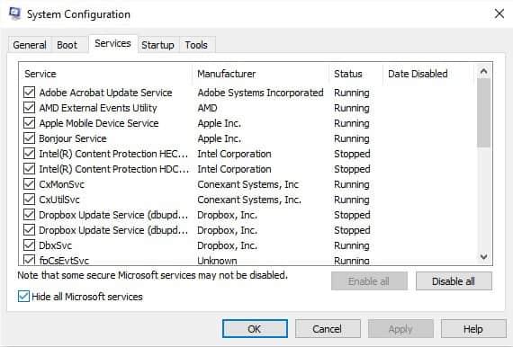 vô hiệu hóa dịch vụ microsoft sửa lỗi 0x80070002