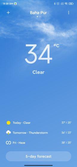 23. Aplikácia dynamického počasia