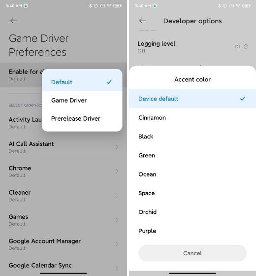 24. Ovládač hier a ďalšie možnosti pre vývojárov Najlepšie funkcie MIUI 12