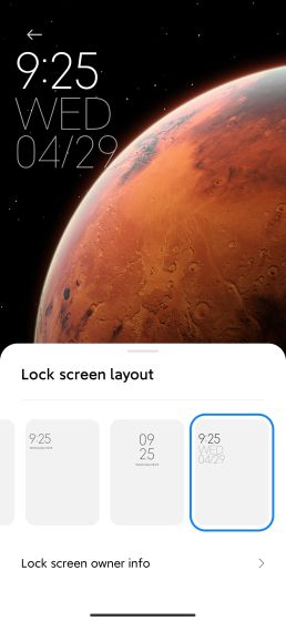17. Hodiny s uzamknutou obrazovkou Najlepšie funkcie MIUI 12