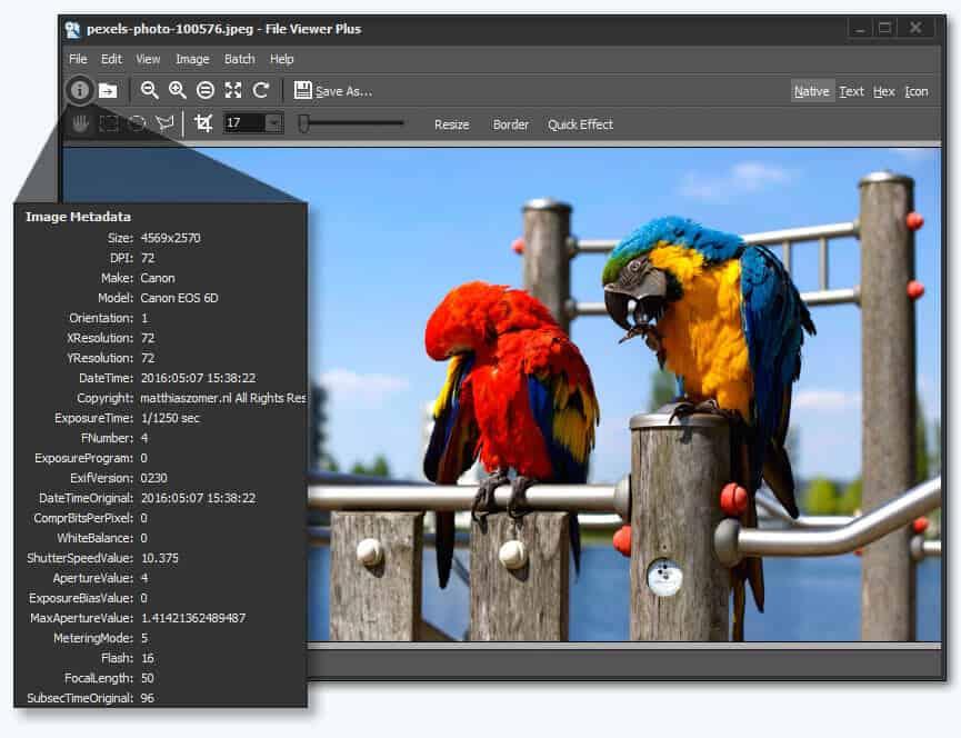 otvoriť prehliadač, upravovať a prevádzať súbory TGA pomocou prehliadača súborov Plus 2