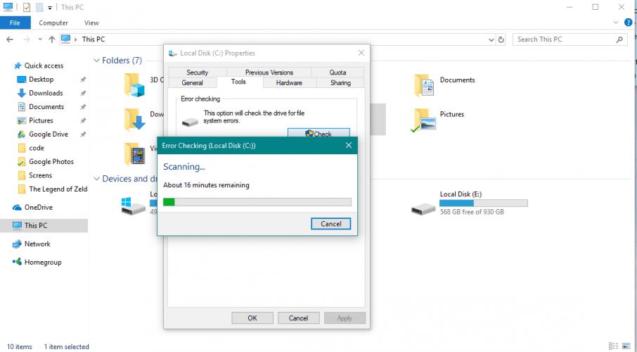 خطأ INTERNAL_POWER_ERROR في Windows 10