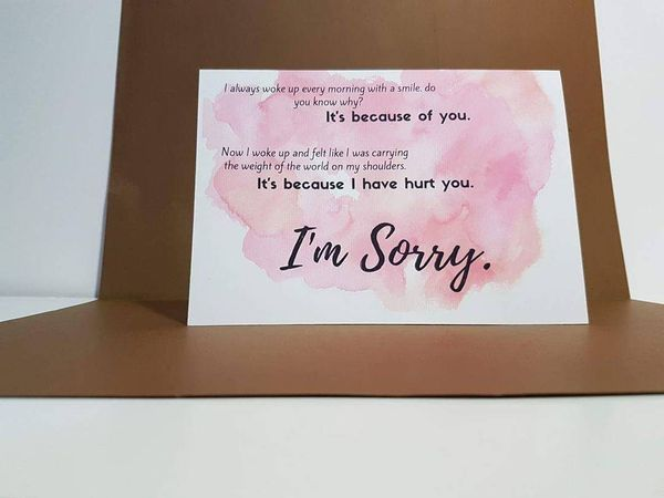 forgiveness messages for girlfriend on card