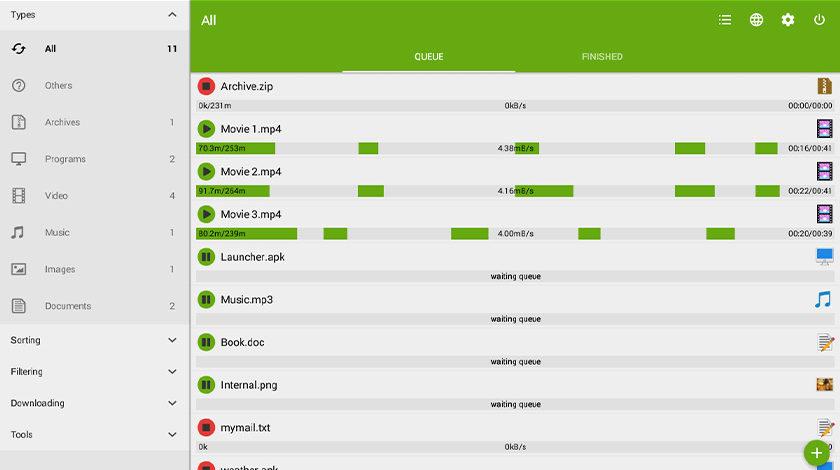 5 Paras Android-lataushallinta!