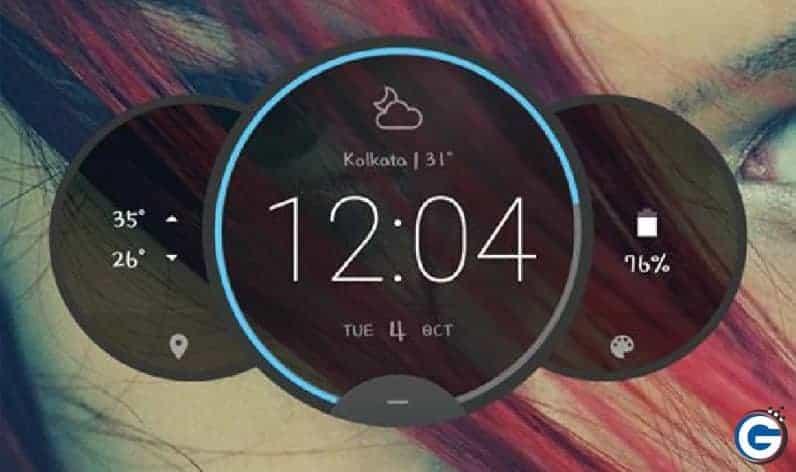 Aktifkan Widget Jam Moto Z Circle Di Android Anda Tanpa Root (Widget Cuaca v4)