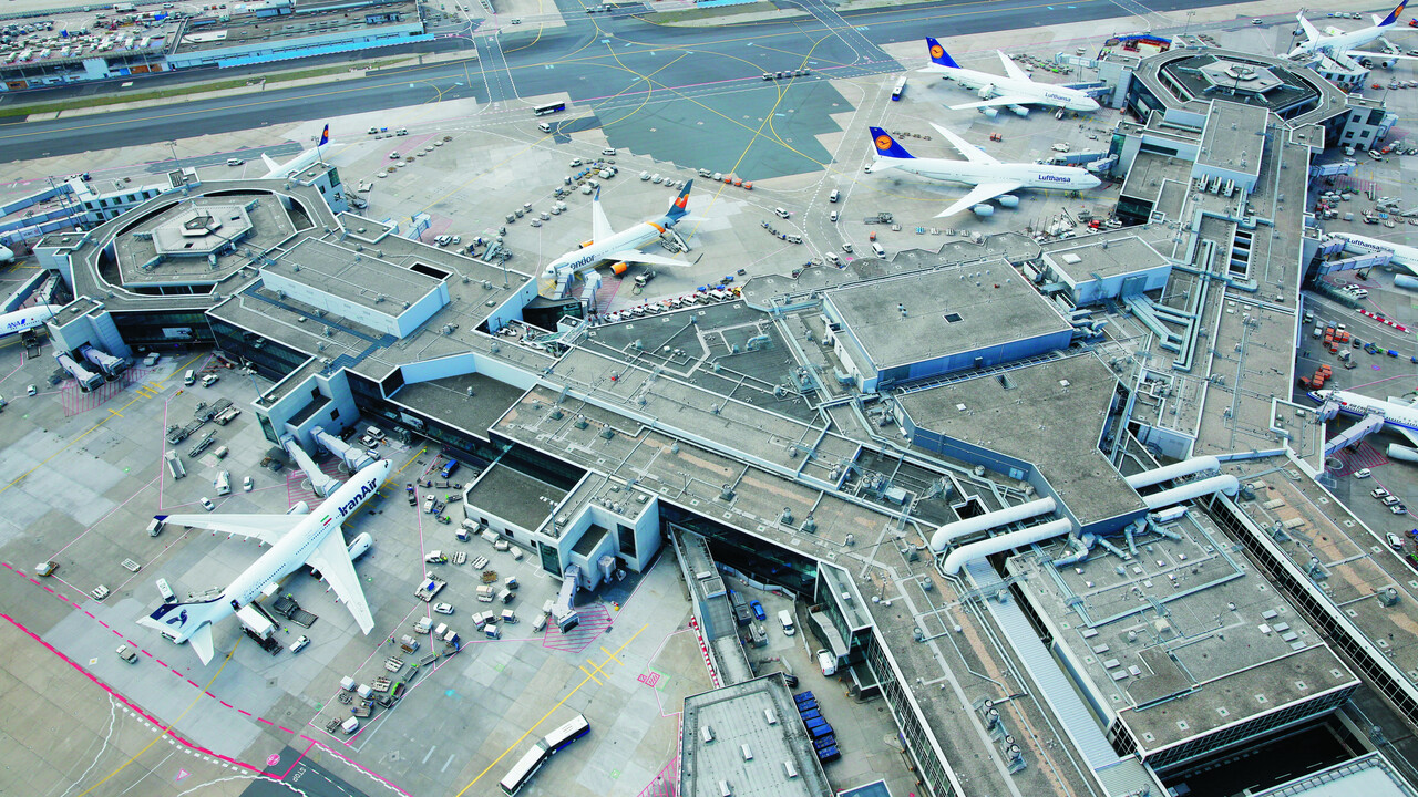 Flughafen Ankunft Frankfurt Am Main