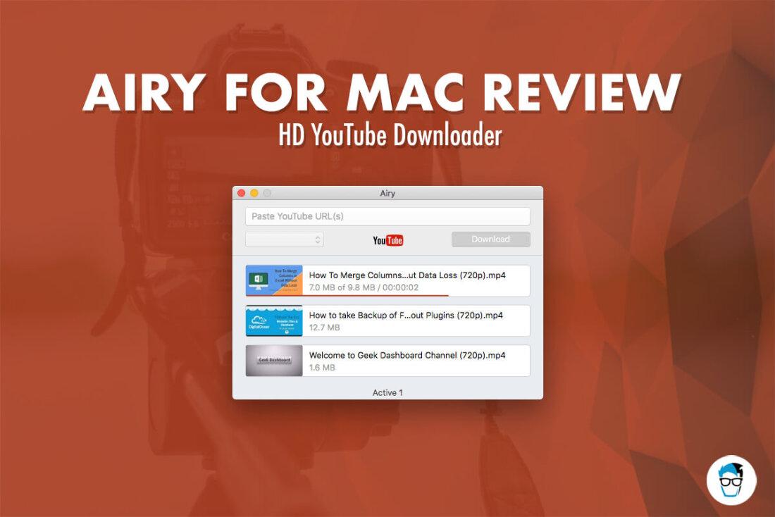 Airy Mac YouTube Descargar reseña - consumir YouTube Contenido sin conexión sin anuncios