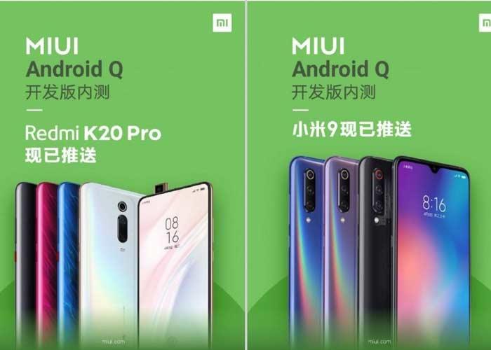 La beta de MIUI basada en Android Q está llegando a algunos Xiaomi