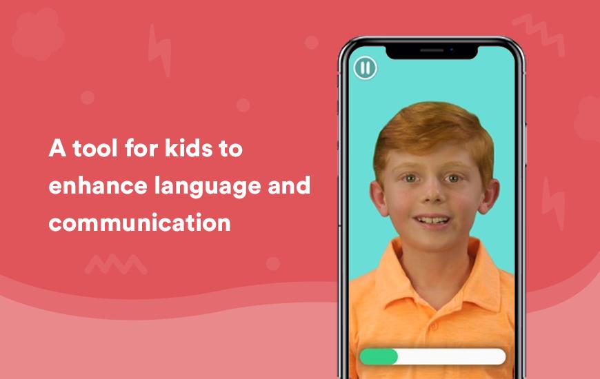 Aplicación de terapia del habla y lenguaje para niños