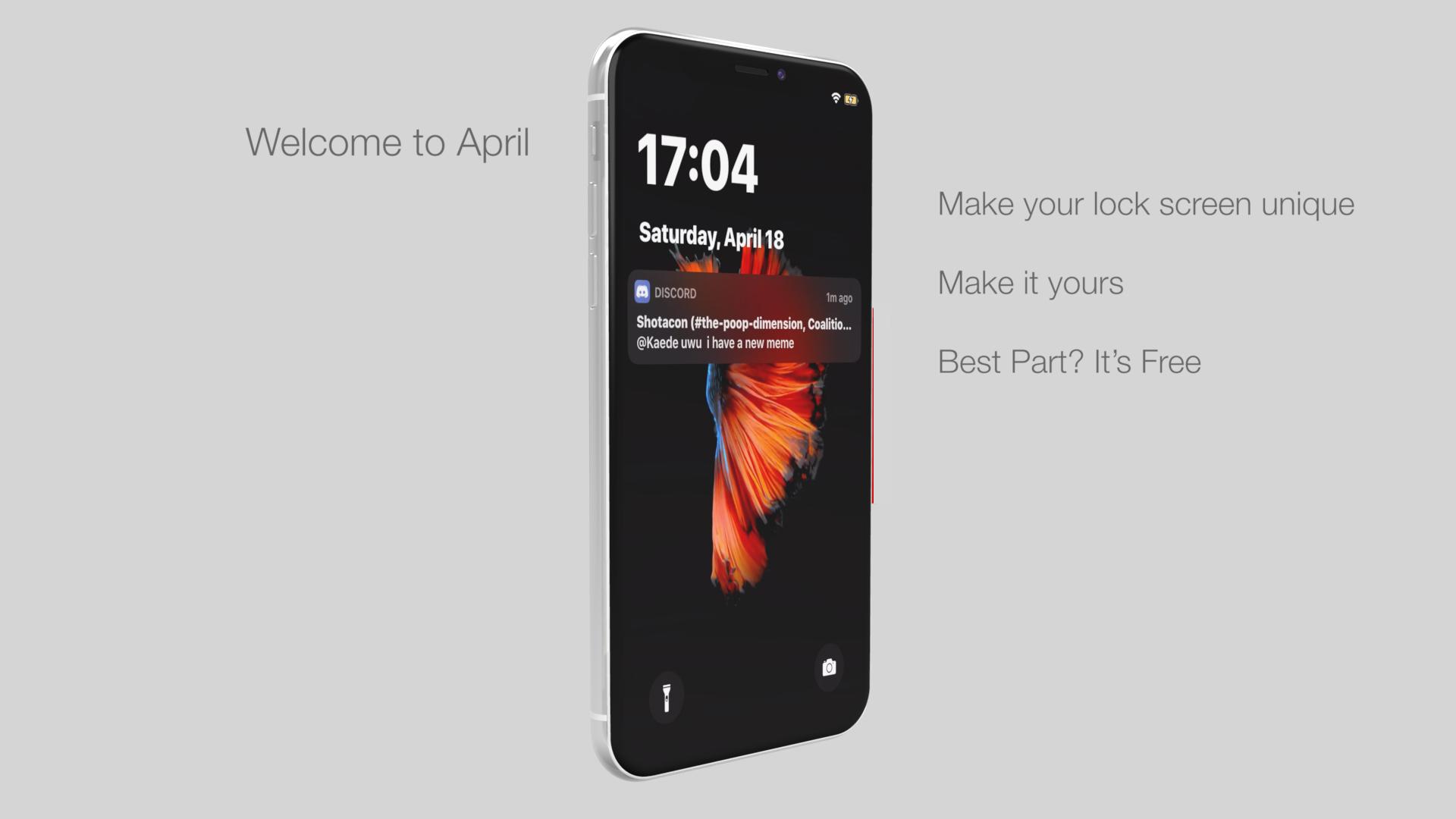 April trae un nuevo nivel de personalización de pantallas de bloqueo a iPhones con jailbreak