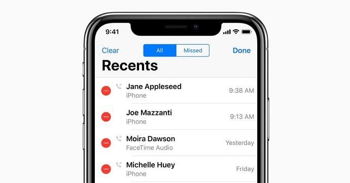 Kuinka lisätä iPhonen puheluhistoriaa