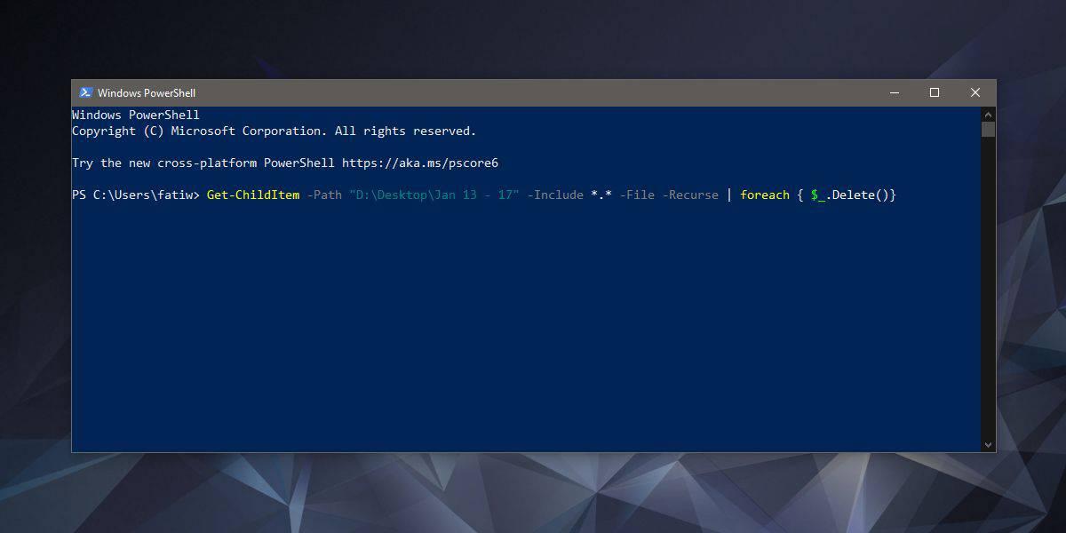 Cara menghapus file tetapi tetap folder Windows 10 1
