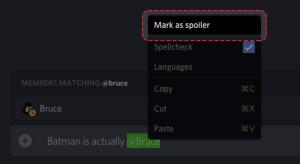 Cómo crear una etiqueta de spoiler en Discord