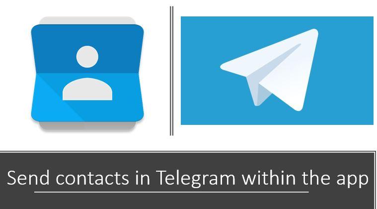 Cara mengirim kontak di Telegram dalam aplikasi
