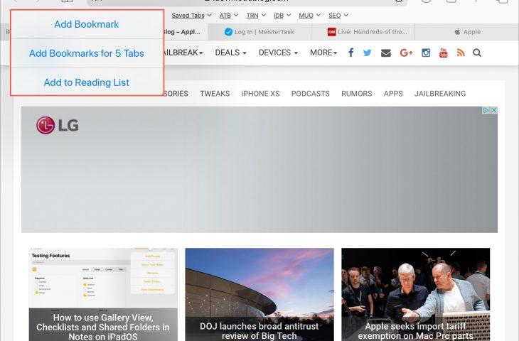 Cara menyimpan semua tab Safari yang terbuka sebagai penanda di iPhone dan iPad 1