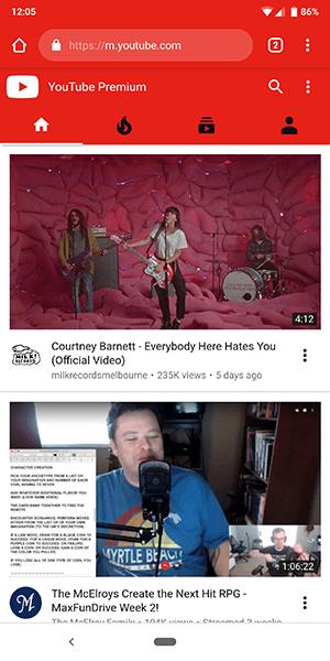 Cómo mirar YouTube Página de escritorio desde su teléfono