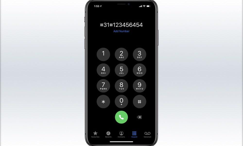 iPhone hide number