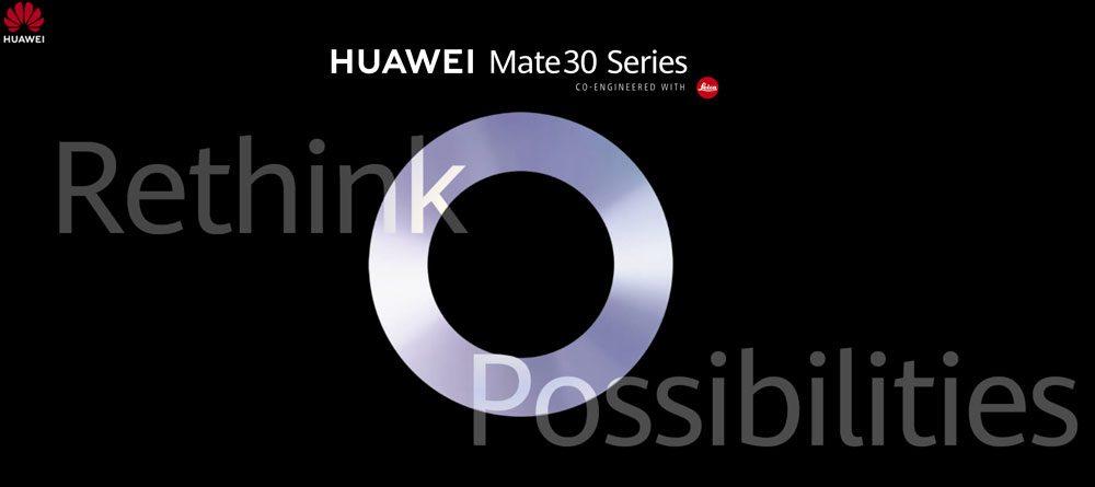 Resmi: Huawei mengumumkan tanggal presentasi Mate 30 dan Mate 30 Pro