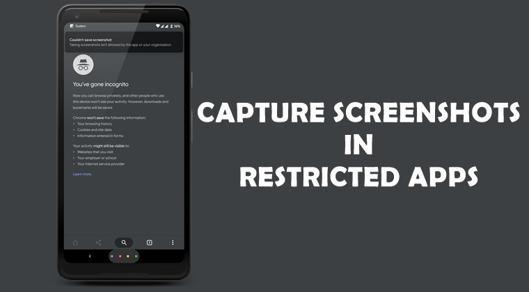 screenshot in restricted apps