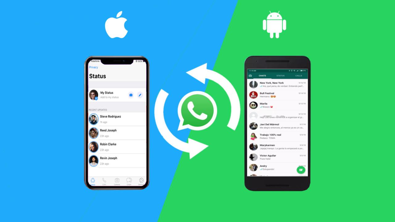 Kuinka siirtää WhatsApp-tietoja Android-laitteelle iPhone tai helposti