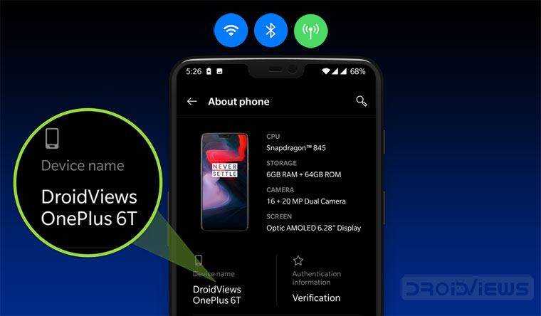 Change Android Device Name