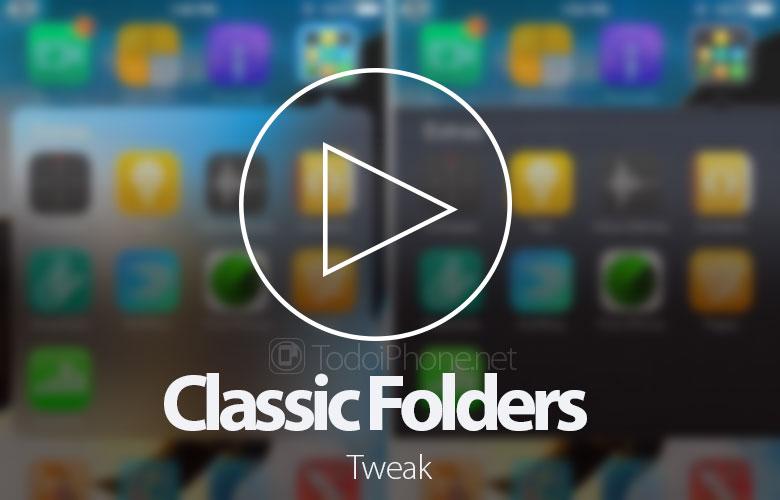 Classic Folders memungkinkan Anda memiliki folder iPhone 6-gaya iPhone 1