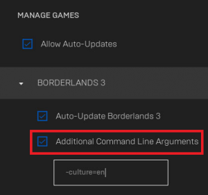 Cách thay đổi ngôn ngữ trong Borderlands 3 trên máy tính của bạn 1