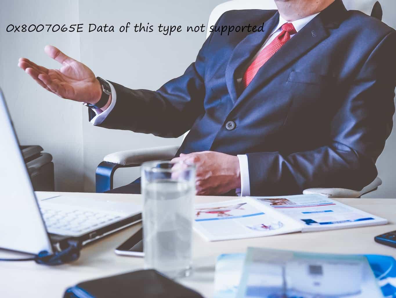 Cách khắc phục lỗi 0x8007065E: Dữ liệu thuộc loại này không tương thích 4
