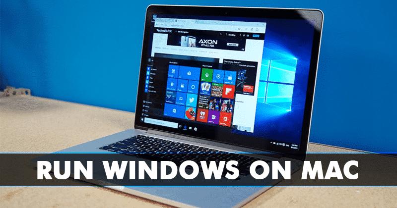 Kuinka juosta Windows Mac3-menetelmällä)