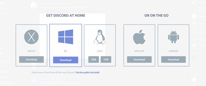 Ladda ner Discord från discord-appen
