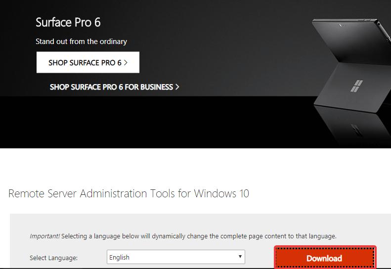 uzaq server idarəetmə vasitələrini quraşdırın windows 10
