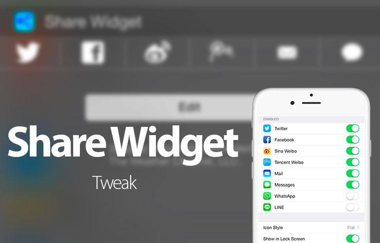 Bagikan Widget berbagi Twitter, Facebook dan lainnya, dari Pusat Pemberitahuan iOS 8 1