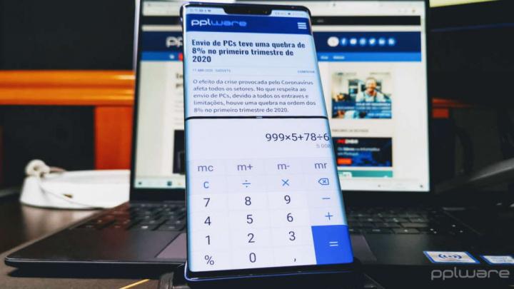 Android-smarttelefonappar två skärmar