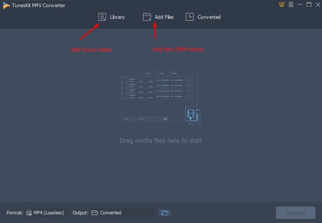 Agregar archivos al convertidor TunesKit M4V