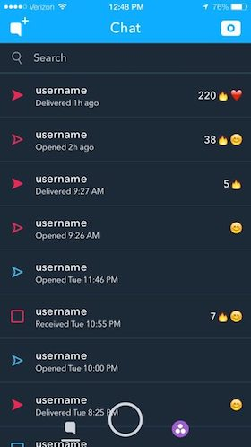 Modo oscuro Snapchat
