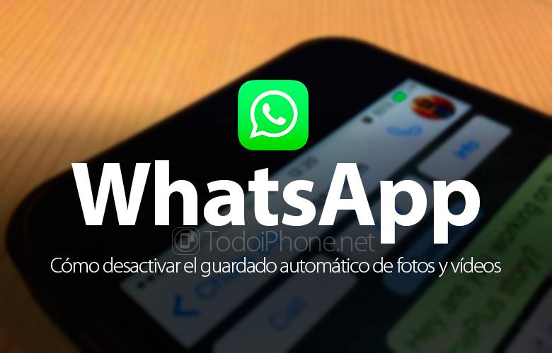 Nonaktifkan WhatsApp, penyimpanan otomatis foto, video, dan file multimedia 1