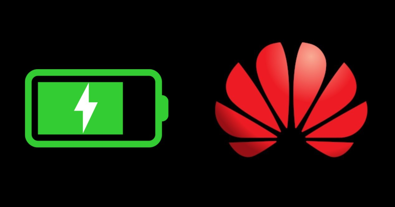 logo de Huawei y batería