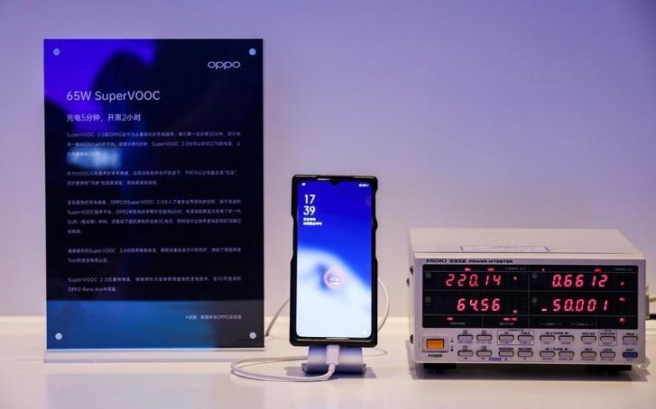 Pengisi daya SuperVOOC 65W Oppo membutuhkan waktu kurang dari 30 menit untuk mengisi penuh daya ponsel Anda