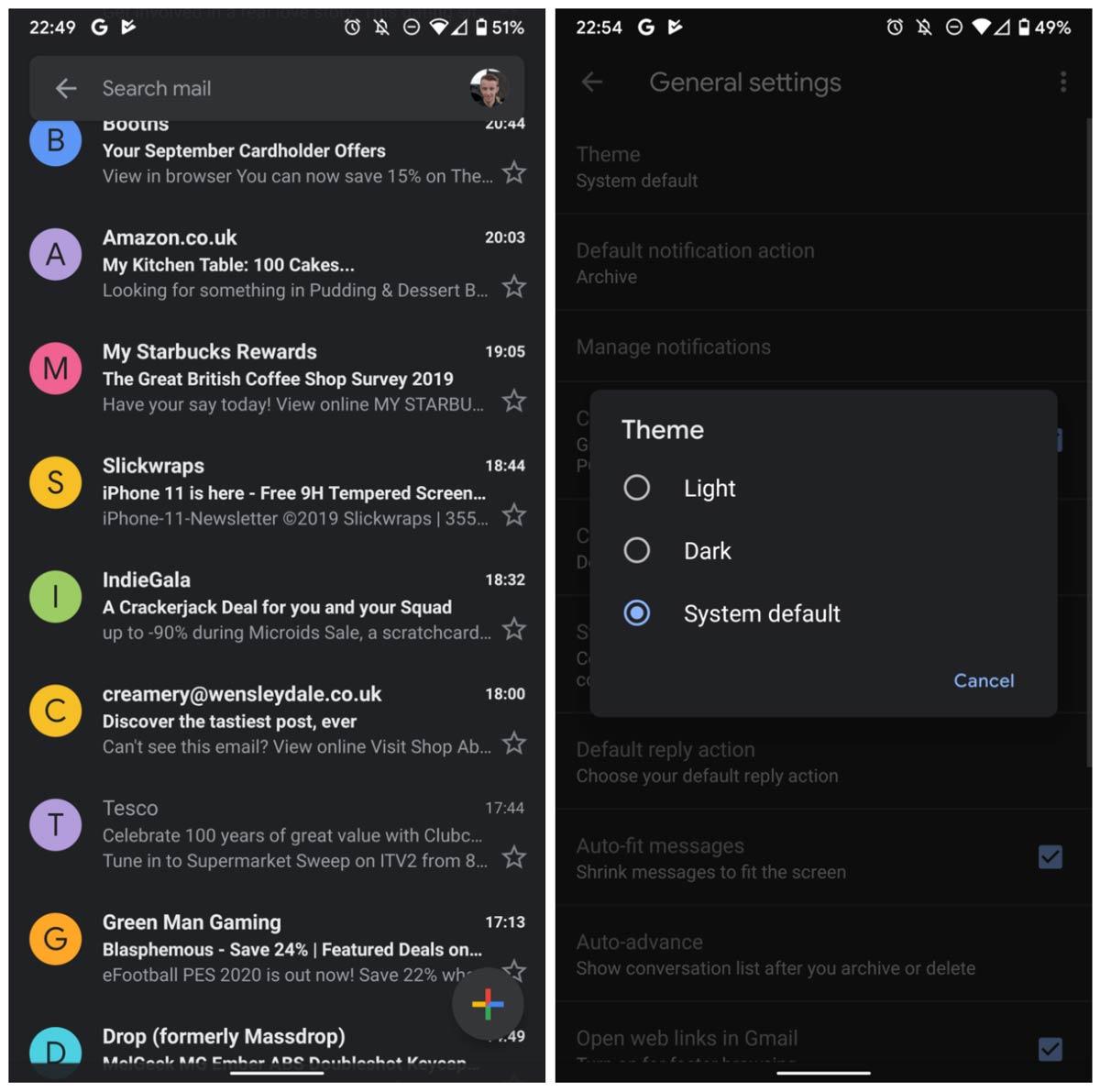 Pimeä tila saapuu virallisesti Gmailiin: näin se aktivoidaan