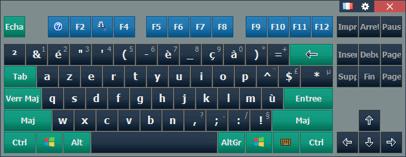 Ekrandakı klaviatura