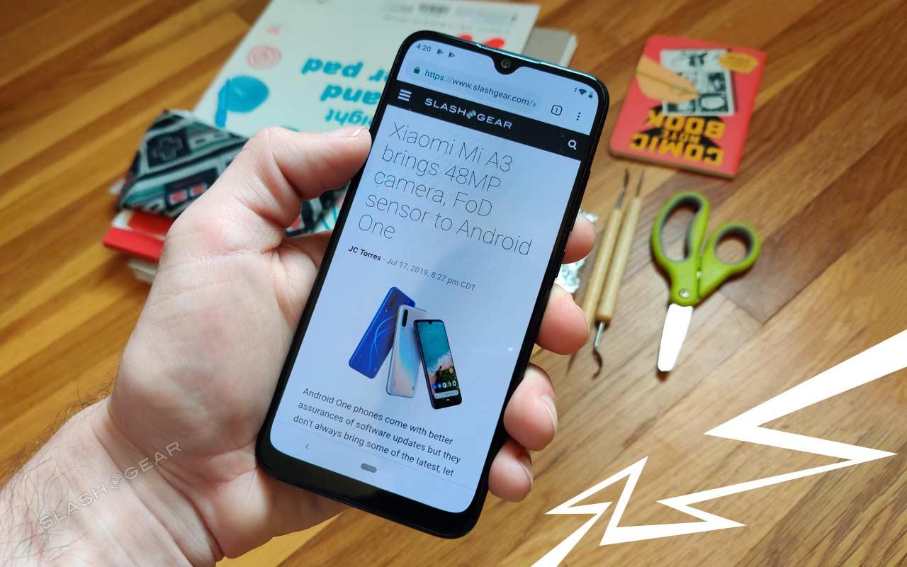 Sampel foto Xiaomi Mi A3 melihat nilainya di kelas bawah