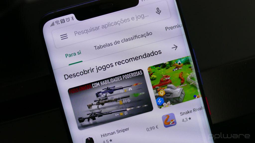 Imagem Google Play jogos que enviará notificação para o smartphone Android