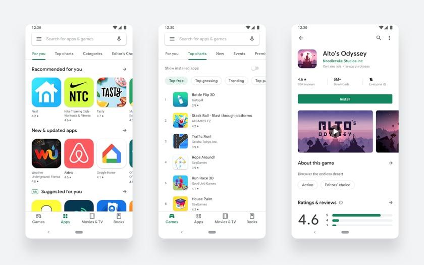 Google Play Store APK: Uusi malli on käytössä