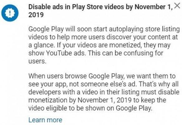 Google Play untuk memulai pemutaran video otomatis.