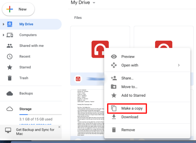 How to duplicate / copy a folder on Google Drive 9