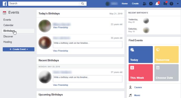 Dostların doğum günlərini necə izləmək olar Facebook