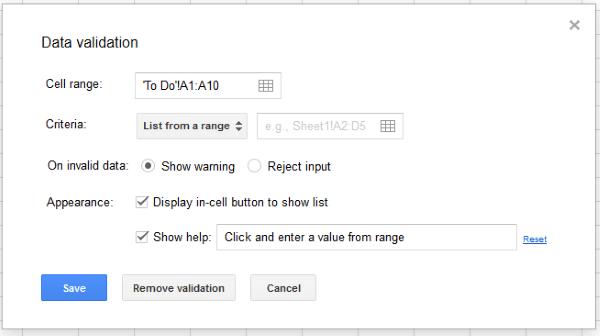 Ako vytvoriť rozbaľovací zoznam v Tabuľkách Google2
