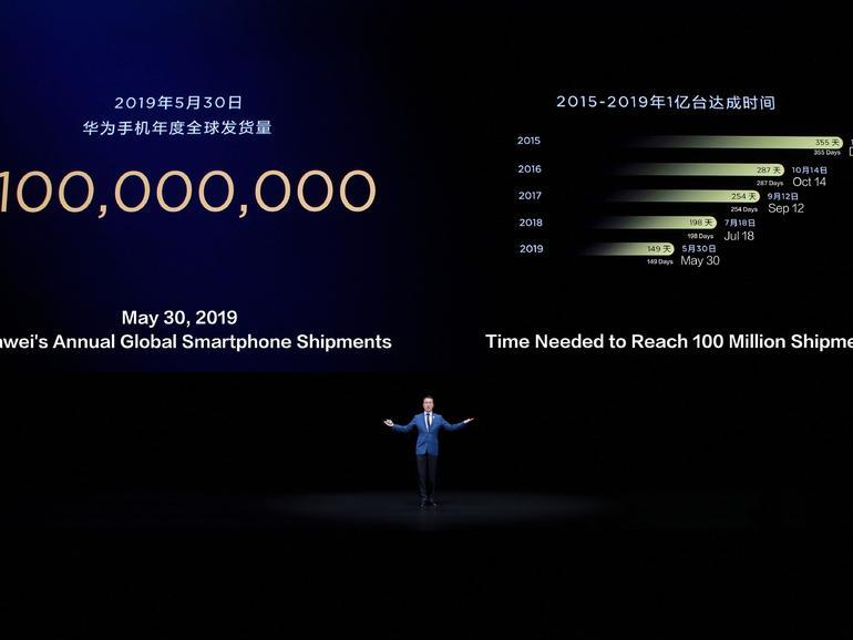 Huawei mengirim 100 juta handset pada 30 Mei